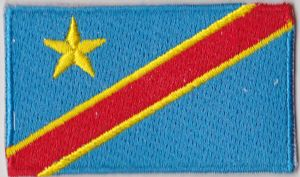 Congo Democratic Republic Embroidered Flag Patch, style 04